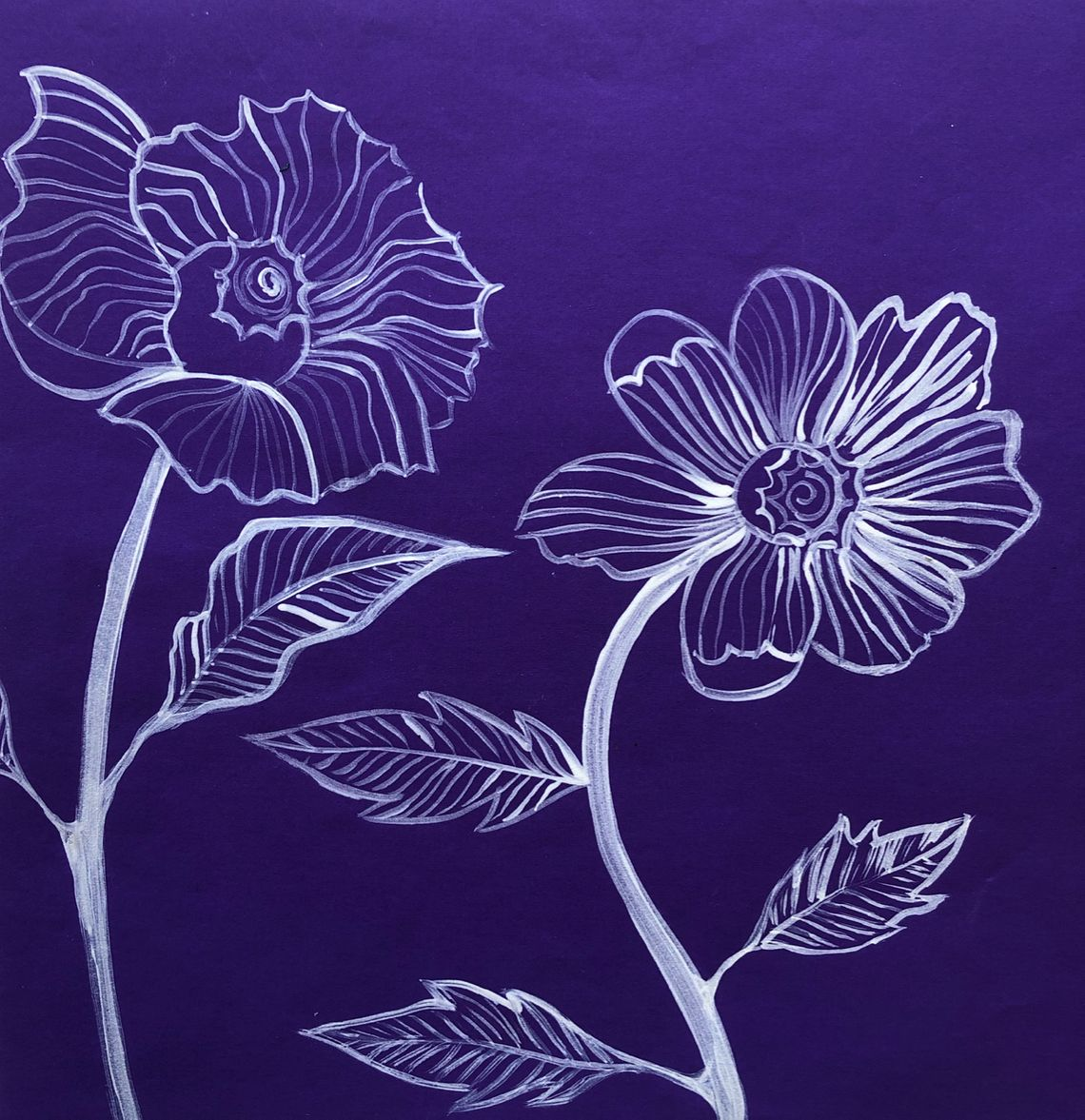 painted flowers art skills for kids adults families art activity wellbeing mindfulness art therapy