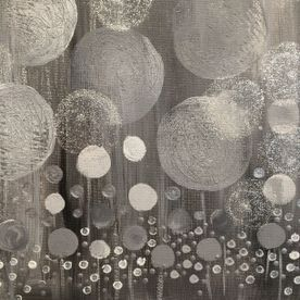contemporary modern affordable wall art mixed media acrylic paint, grey, silver, glitter