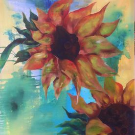 Sunflowers yellow painting on canvas wall art