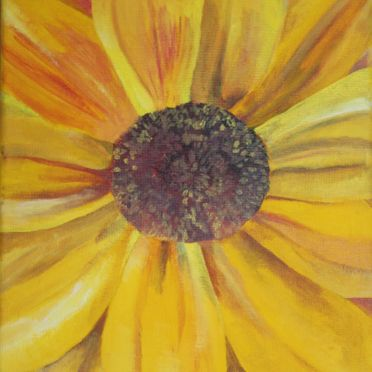 sunflower acrylic painting