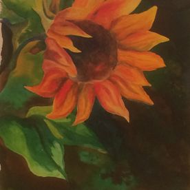 Yellow sunflower painting framed wall art